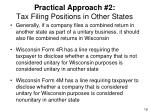 practical approach 2 tax filing positions in other states