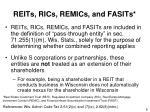 reits rics remics and fasits