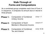 walk through of forms and computations