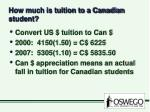 how much is tuition to a canadian student