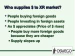 who supplies to xr market