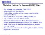 modeling options for proposed bart rule26