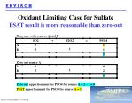 oxidant limiting case for sulfate psat result is more reasonable than zero out