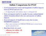sulfate comparisons for psat