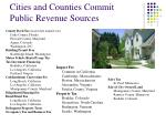cities and counties commit public revenue sources