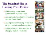 the sustainability of housing trust funds