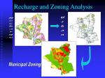 recharge and zoning analysis