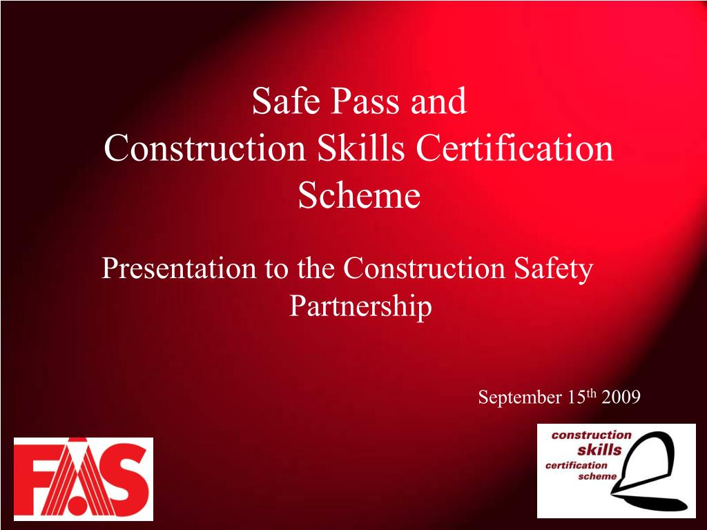 safe pass and construction skills certification scheme l.