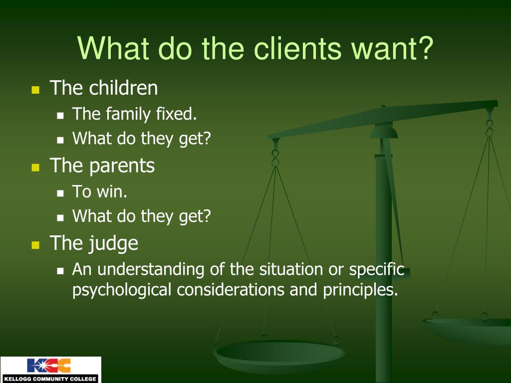 What do the clients want?