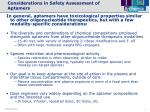 considerations in safety assessment of aptamers