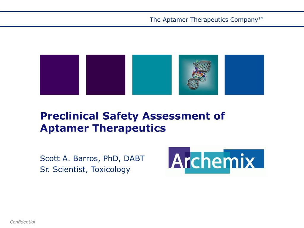 preclinical safety assessment of aptamer therapeutics l.