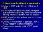 3 mauritius qualifications authority