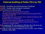 external auditing of public tei s by tec