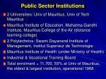 public sector institutions