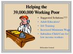 helping the 39 000 000 working poor
