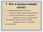 i how to measure economic activity