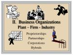 ii business organizations plant firm industry