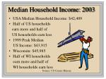 median household income 2003