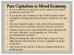 pure capitalism to mixed economy