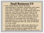 small businesses us