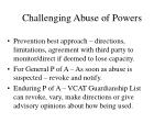 challenging abuse of powers