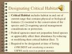 designating critical habitat