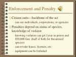 enforcement and penalty