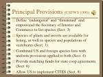 principal provisions usfws 1996