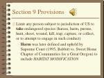 section 9 provisions
