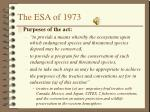 the esa of 1973