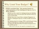why limit your budget