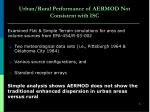 urban rural performance of aermod not consistent with isc
