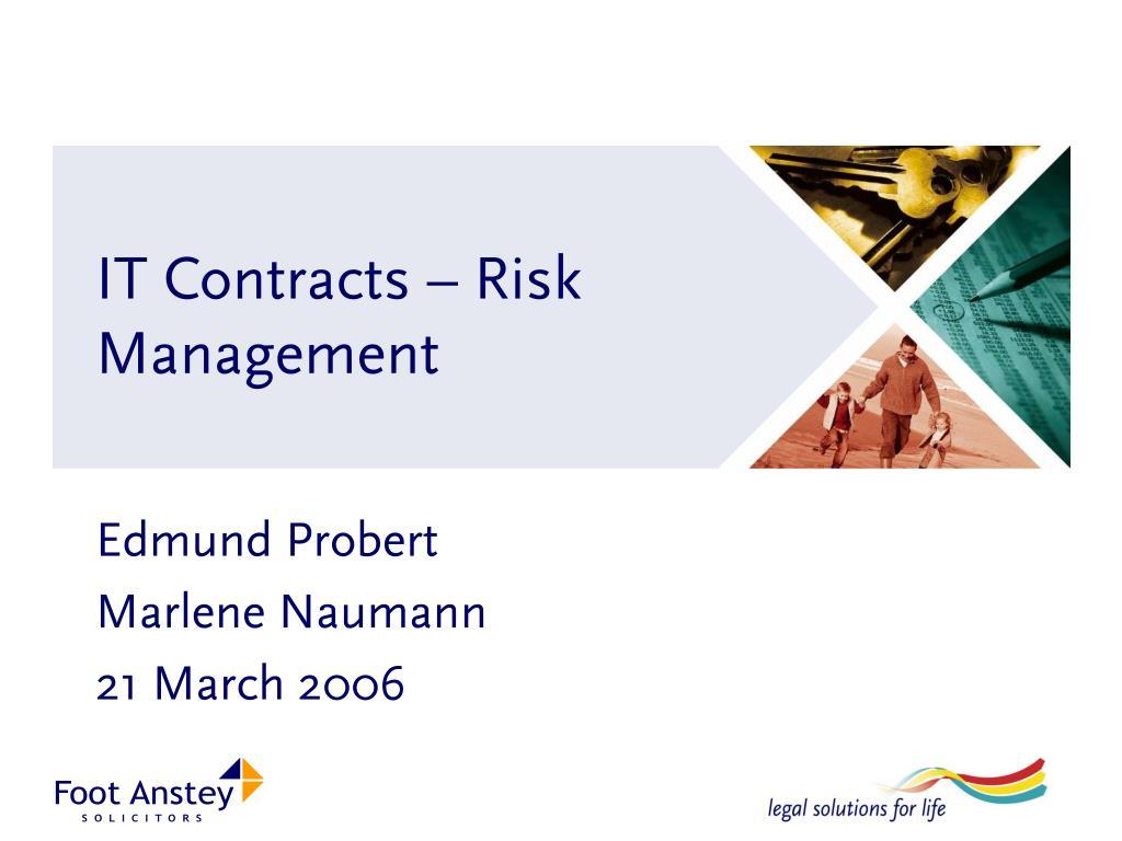 it contracts risk management l.