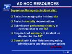 ad hoc resources19