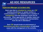 ad hoc resources20