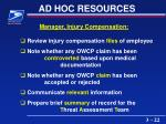 ad hoc resources22