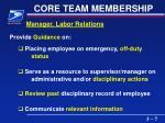 core team membership7