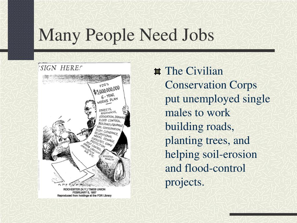 Many People Need Jobs