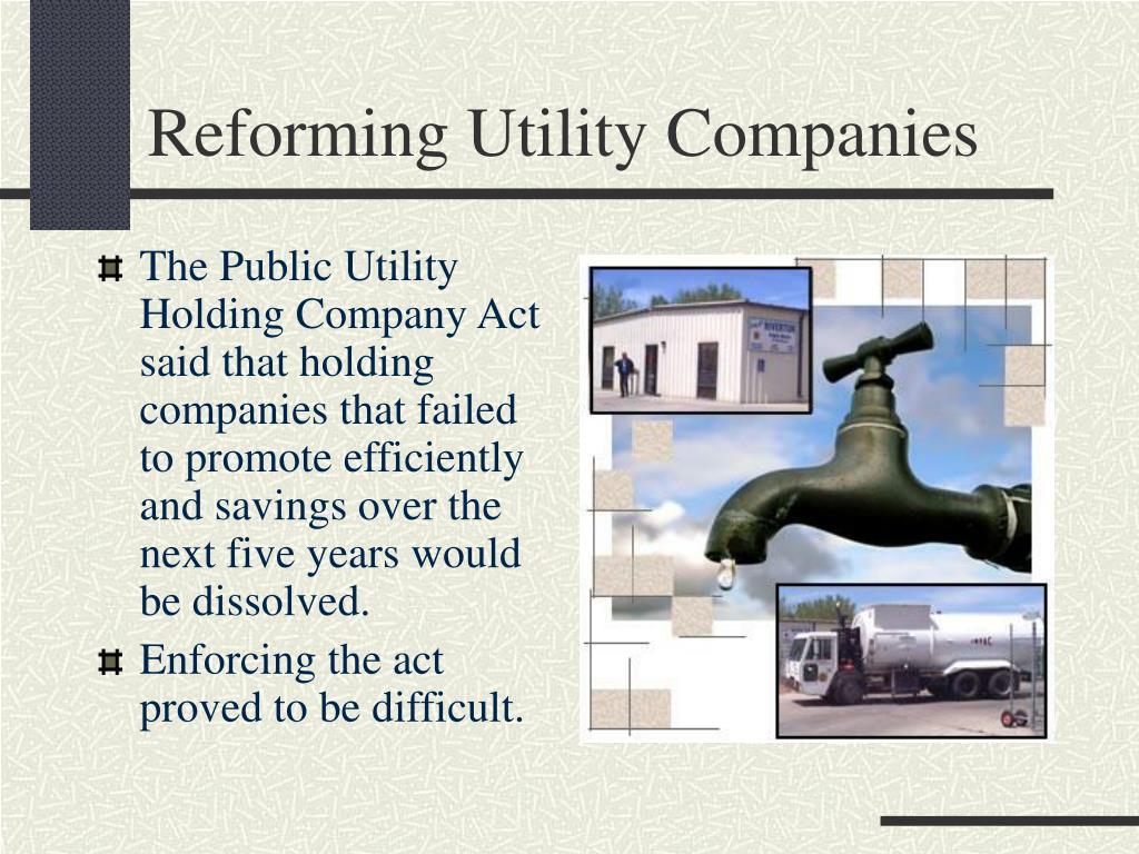 Reforming Utility Companies