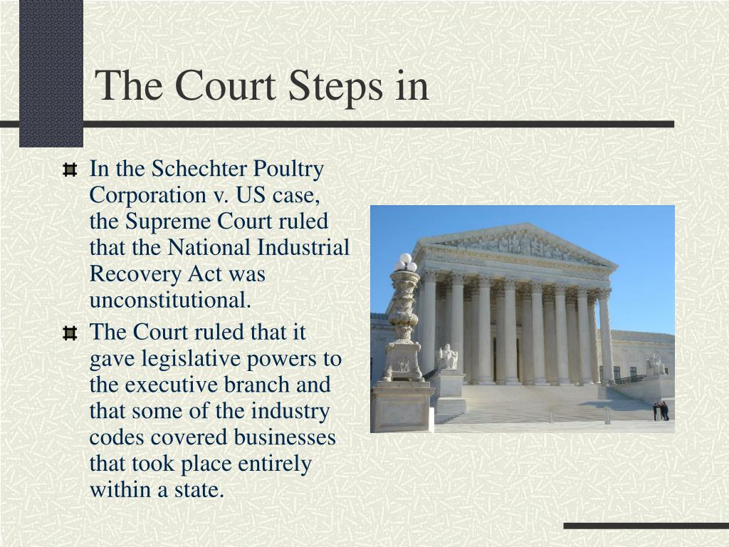 The Court Steps in