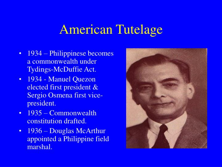 tydings mcduffie act This page contains the full text of the philippine independence act (tydings-mcduffie act) published on the internet by chan robles & associates law firm.