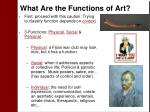 what are the functions of art