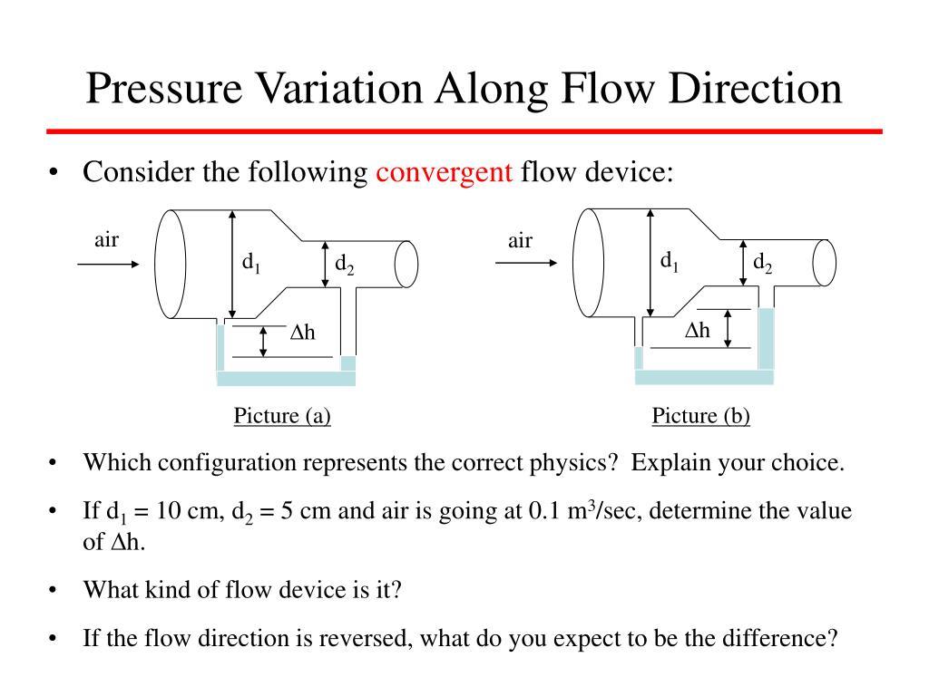 Pressure Variation Along Flow Direction