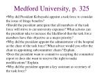 medford university p 325