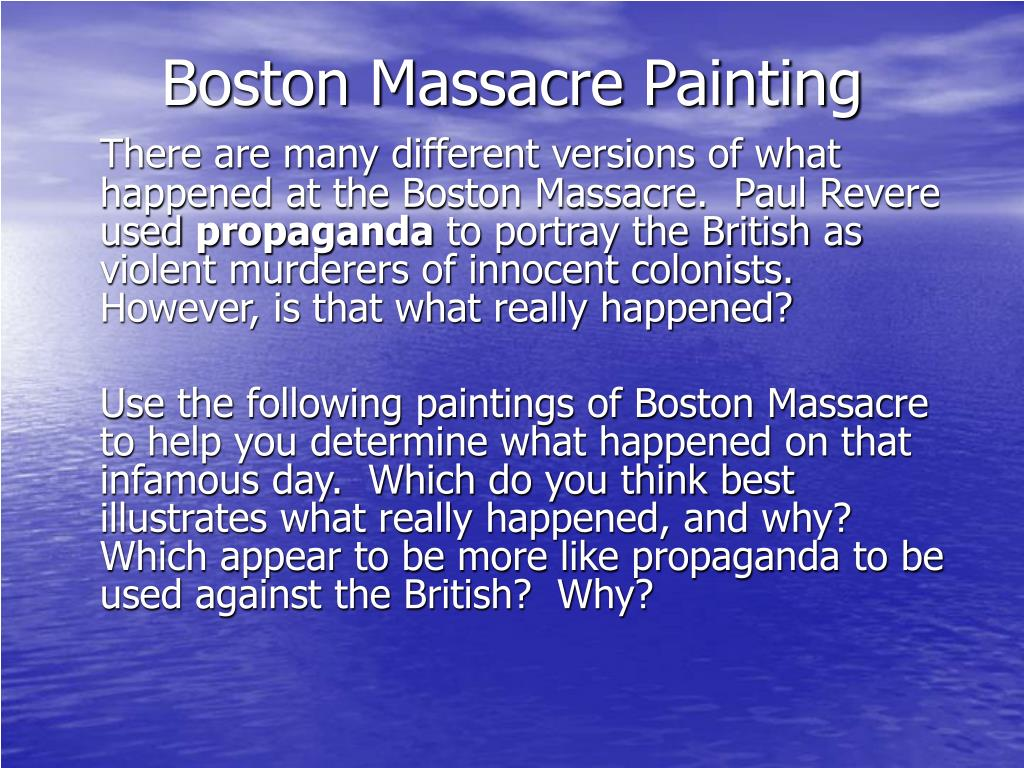 boston massacre painting l.