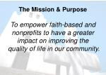 the mission purpose
