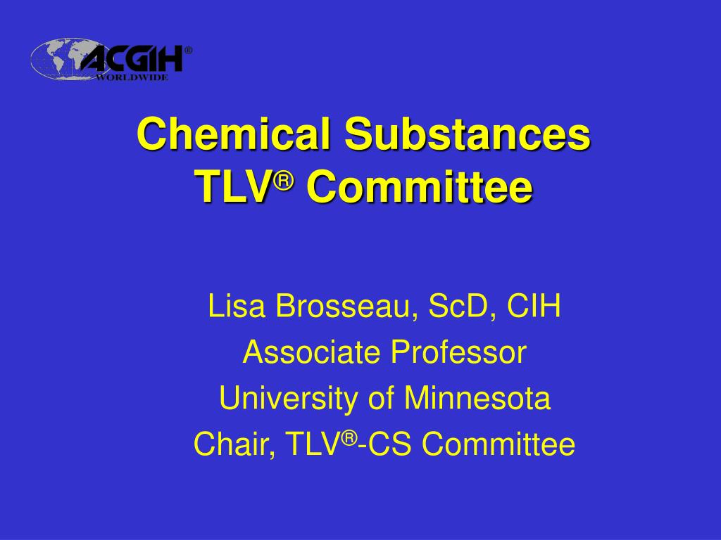 chemical substances tlv committee l.