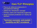 core tlv principles