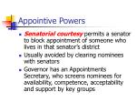 appointive powers17
