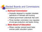 elected boards and commissions